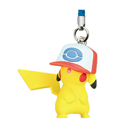 Pokemon the Movie: I Choose You! Netsuke Mascot Unova Hat Pikachu Trading Strap