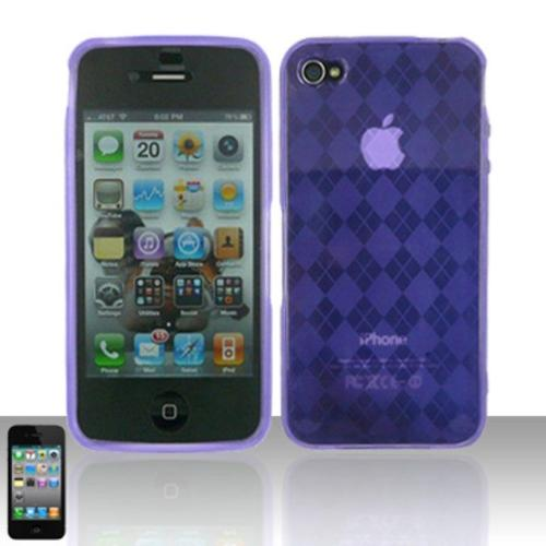 Insten For iPhone 4 / 4S TPU Protector Case Purple