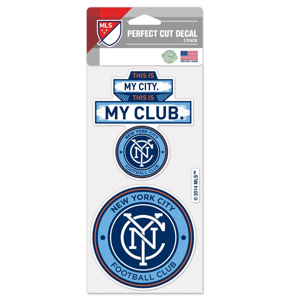 "New York City FC WinCraft 4"" x 8"" Perfect Cut Decal 2-Pack Set - No Size"