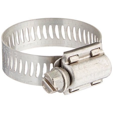 "Breeze 63016H Marine Grade Power-Seal SS Hose Clamp, Worm-Drive, SAE Size 16, 13/16"" to 1-1/2"" Dia, 1/2"" Wd. (10EA)"