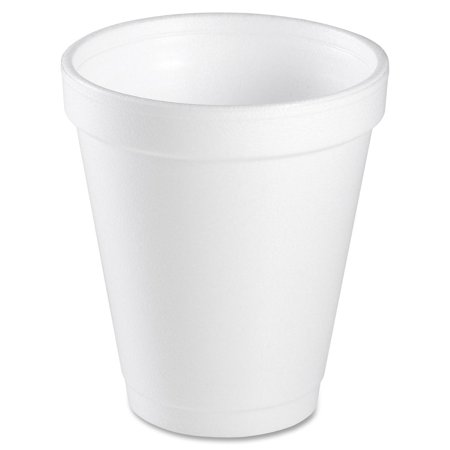 Dart Foam Drink Cups, 6oz, White, 25/Bag, 40 Bags/Carton Dart Dart Foam Cup
