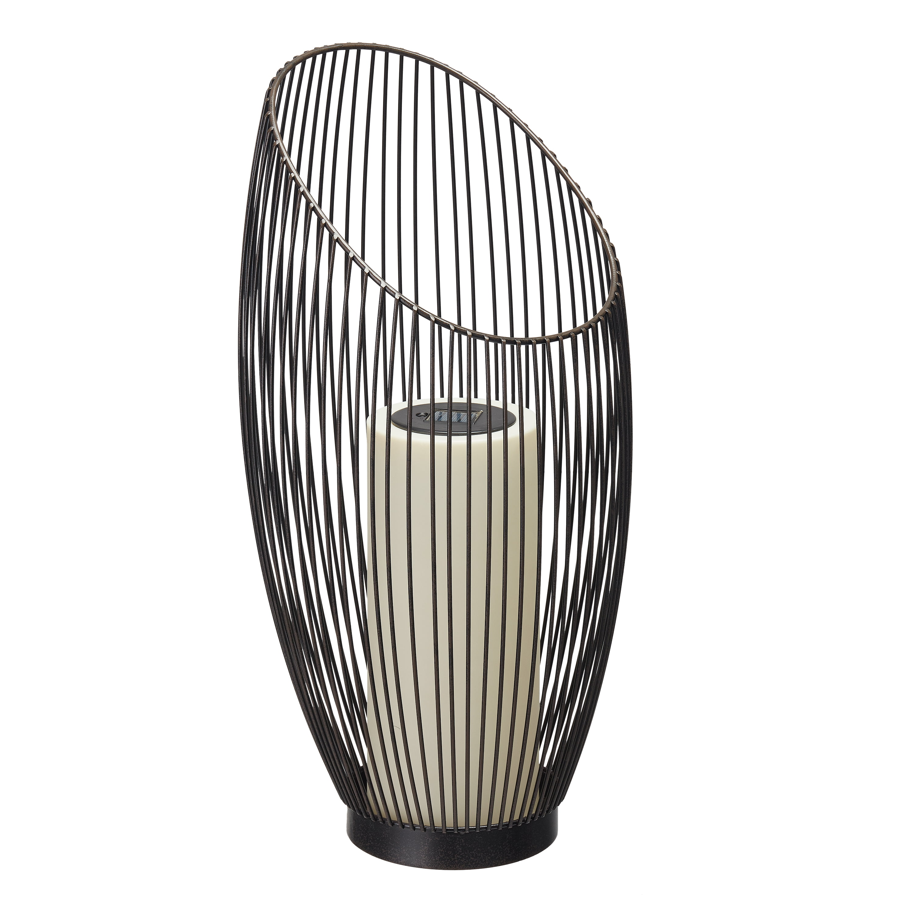 """Better Homes & Gardens 11"""" Astrid Solar Powered Candle Lantern by Le Power"""