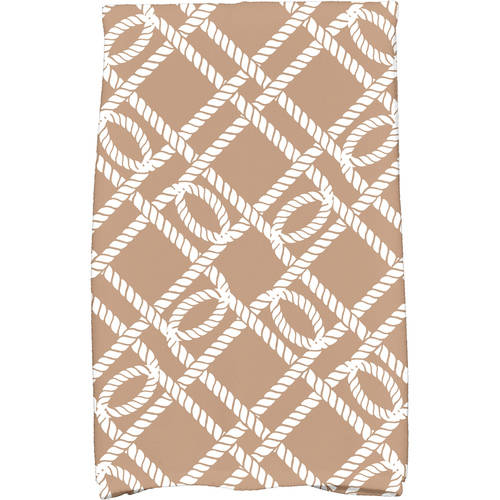 "Simply Daisy 16"" x 25"" Know the Ropes Geometric Print Kitchen Towel by E By Design"