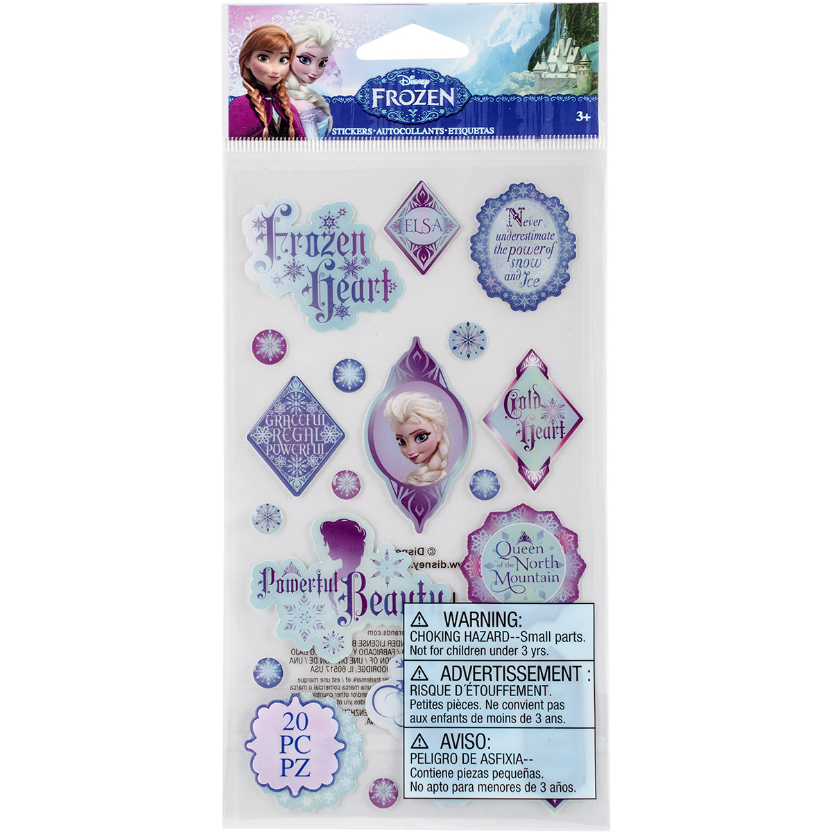 Disney Epoxy Stickers-Frozen Elsa Phrase