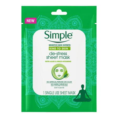 Simple Kind to Skin De-Stress Sheet Mask 1 ct