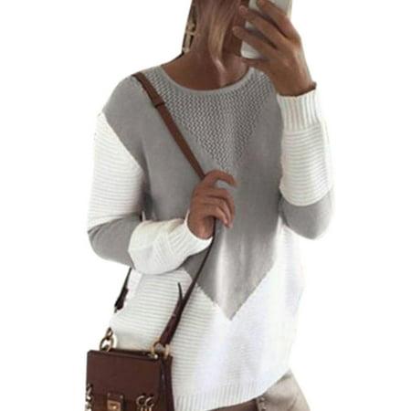 Women Winter Baggy Oversized Chunky Knit Jumper Pullover Top Sweater Sweatshirt