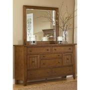 Liberty Heathstone Oak 8-drawer Dresser and Mirror Set
