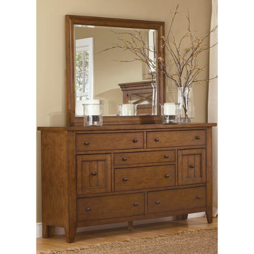 Liberty Heathstone Oak 8-drawer Dresser and Mirror Set