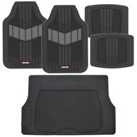 Motor Trend DualFlex Heavy Duty Rubber Car Floor Mats with Cargo Trunk Liner - All Weather Protection