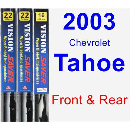 2003 Chevrolet Tahoe Wiper Blade Set/Kit (Front & Rear) (3 Blades) - Vision Saver (Chevrolet Tahoe Wiper)