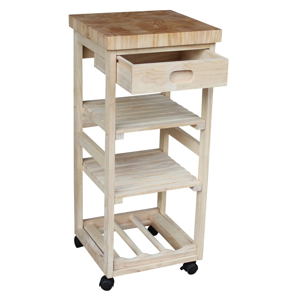 International Concepts Kitchen Trolley, Unfinished - Walmart.com