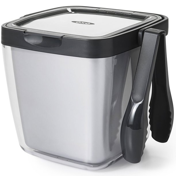 Good Grips Double Wall Ice Bucket With Tongs And Garnish