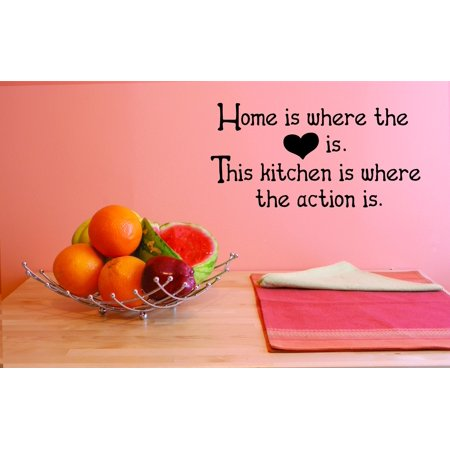 Custom Wall Decal Home is where the heart is The kitchen is where the