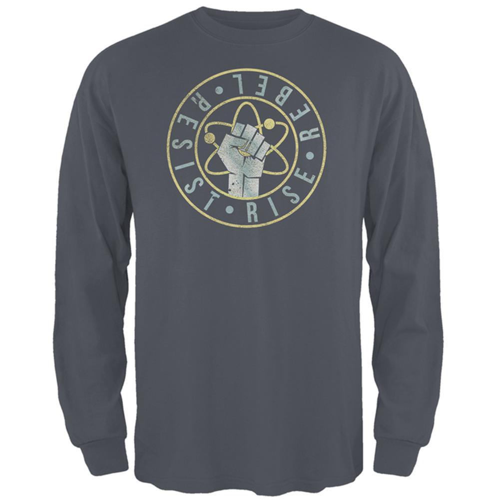 Science Rise Rebel Resist March Mens Long Sleeve T Shirt
