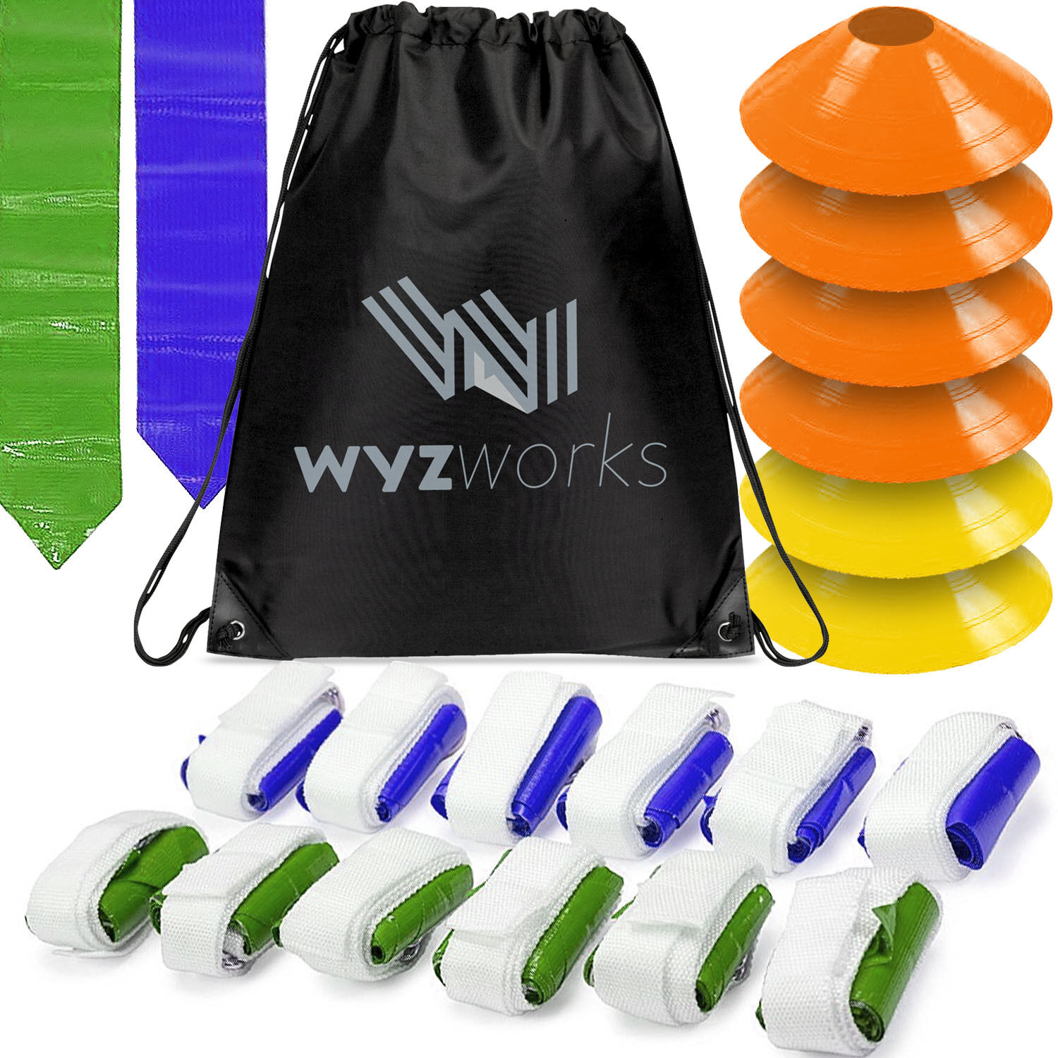 Blue S/&S Worldwide Flag Football Set Set of 12 Blue