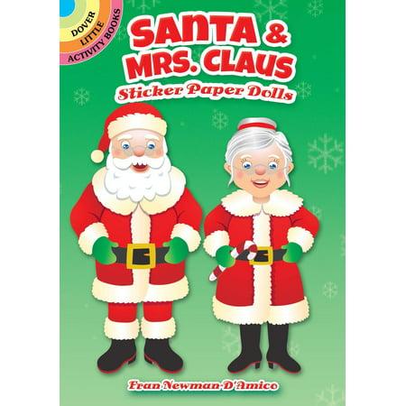 Santa & Mrs. Claus Sticker Paper Dolls Mrs Claus Salt