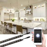 TORCHSTAR Dimmable Smart Under Cabinet Lighting, 3 Methods to Control, 5000K Daylight, Not Support 5G, 4 Set
