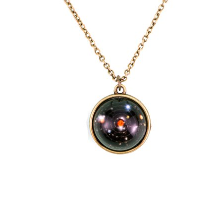 Galaxy Solar System Stars Universe Handmade Glass Ball Pendant Necklace, - Glass Star Jewelry
