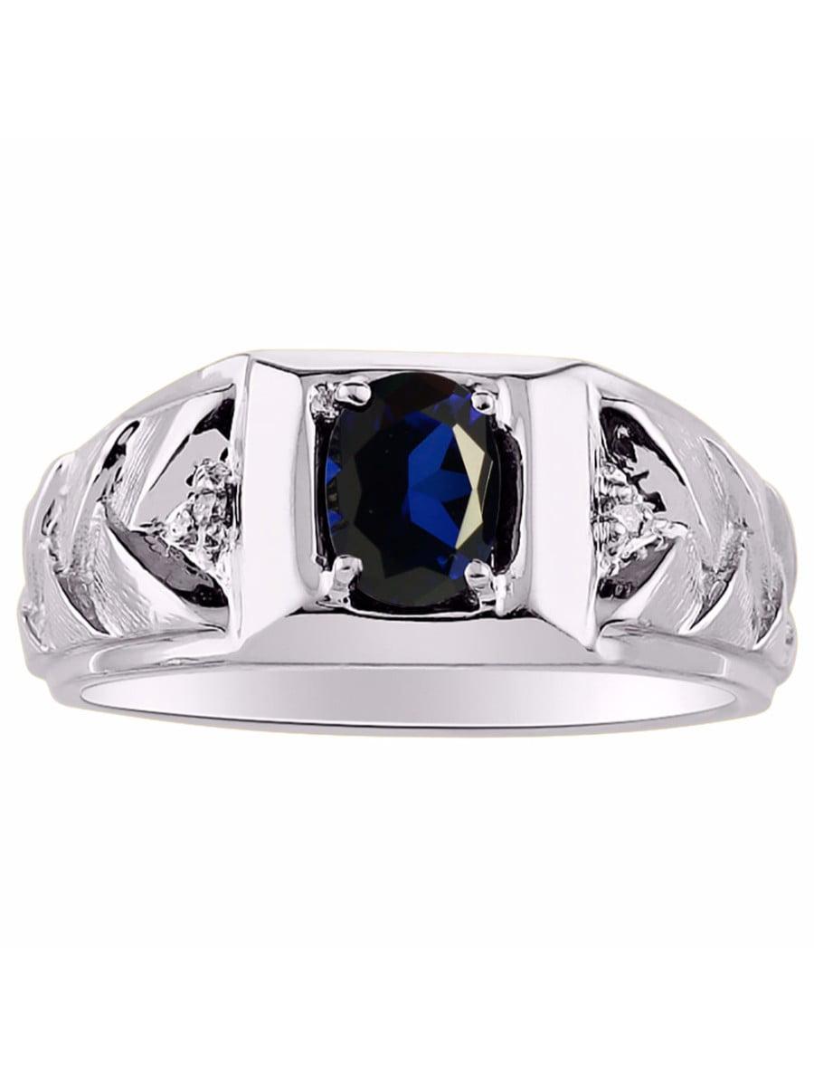 RYLOS Simply Elegant Beautiful Blue Star Sapphire /& Diamond Ring September Birthstone