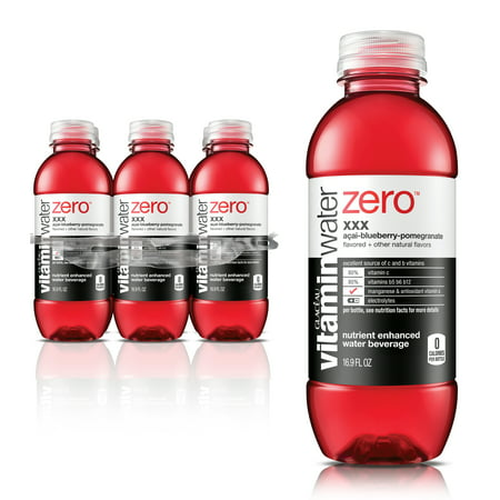 (24 Bottles) Vitaminwater Zero, XXX, 16.9 Oz, 6