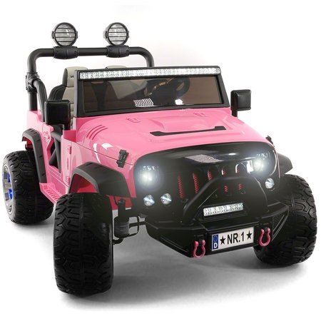 Cars For Kids >> 2019 Two Seater Ride On Kid S Truck 12v Power Children S Electric Car Motorized Cars For Kids W Remote Large Capacity Battery 3 Speeds Led Lights