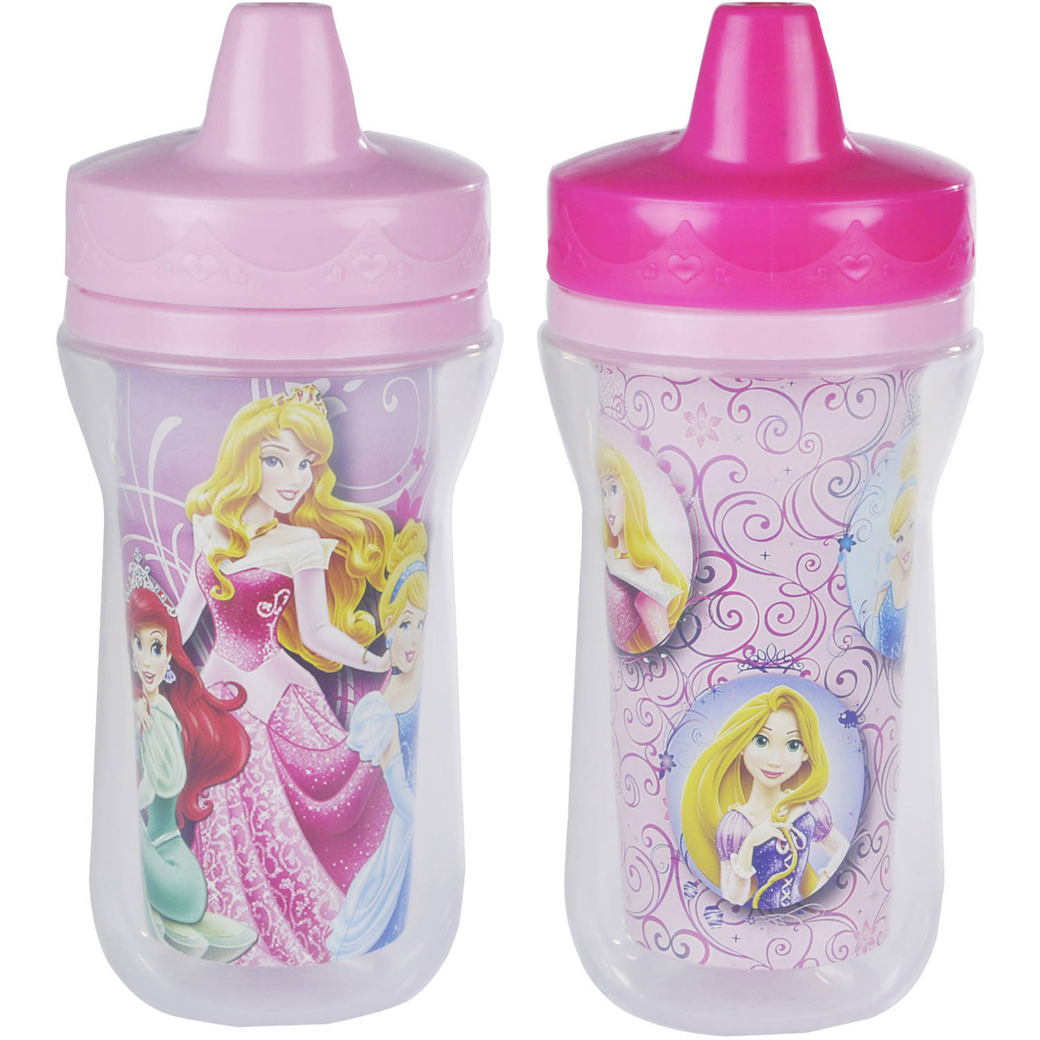 The First Years Meal Mates Princess Insulated 9 oz Sippy Cup, 2-Pack, BPA Free