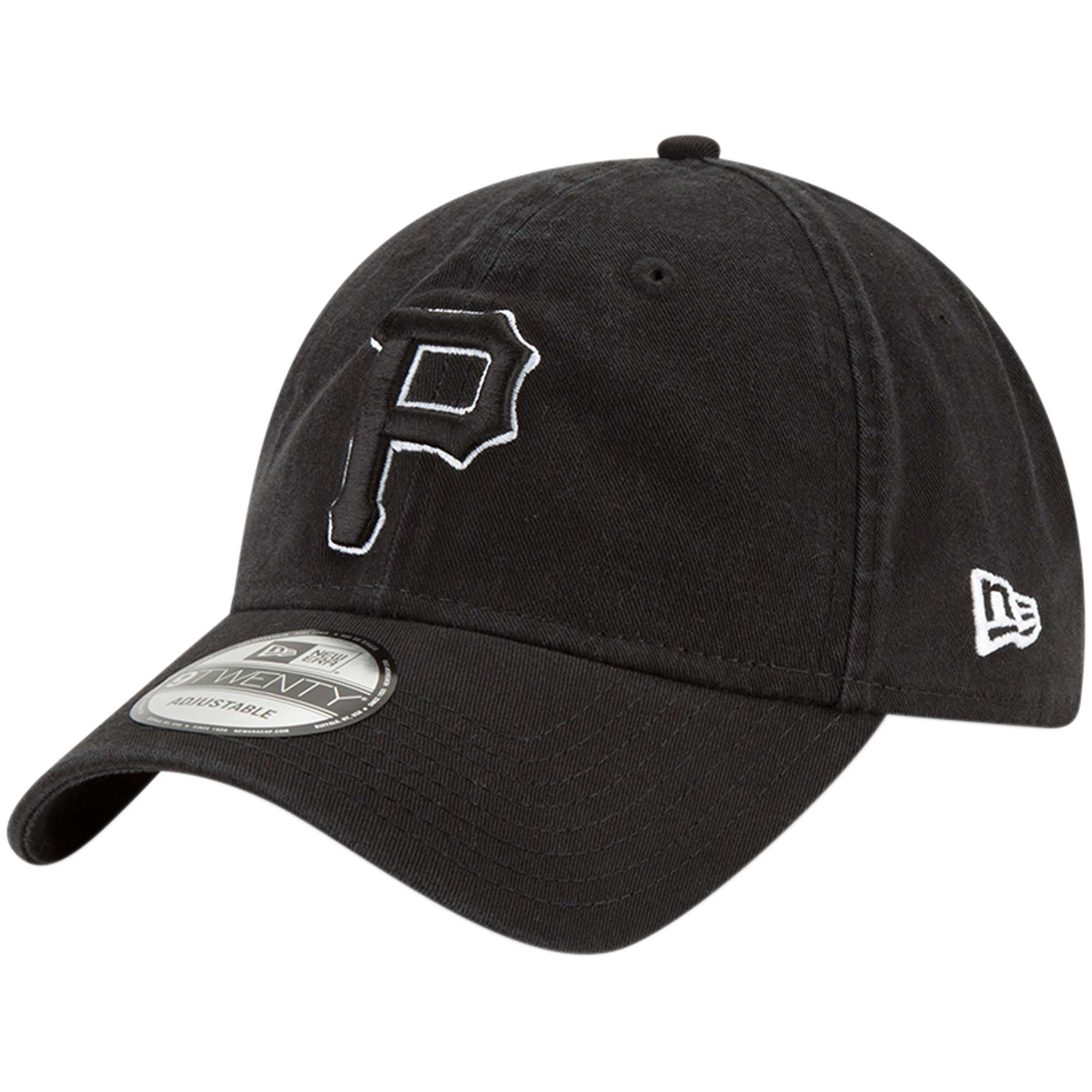 Pittsburgh Pirates New Era Core Classic Twill 9TWENTY Adjustable Hat - Black - OSFA