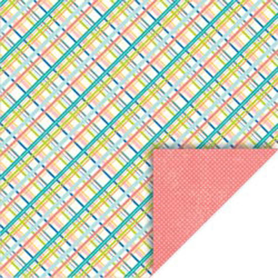 "Plaid-Polka - Summer Double-Sided Cardstock 12""X12"""