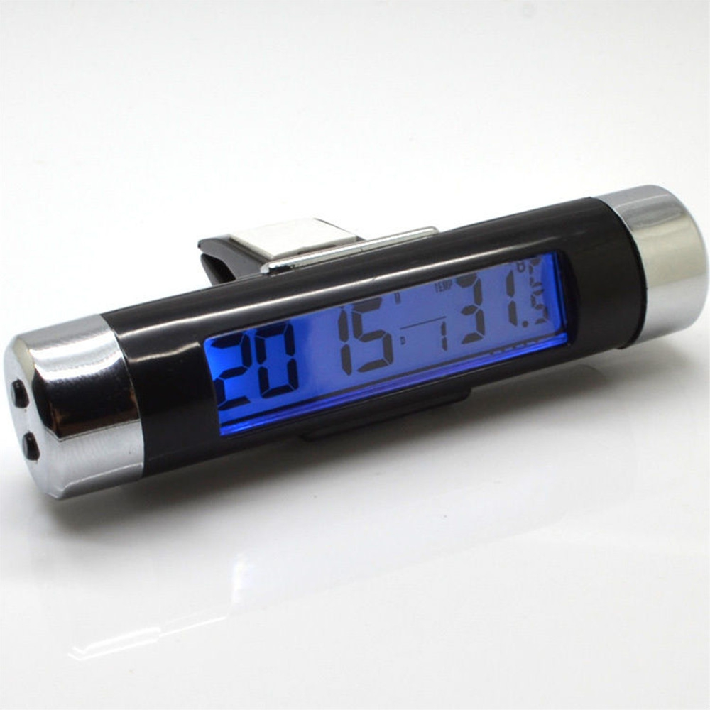 Click here to buy 2 in 1 Barrel Shaped LCD Digital Car Auto Clock Calender Car Air Vent Clip Stick On... by Calves LTD.