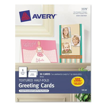 Avery textured half fold greeting cards inkjet 5 12 x 8 12 wht avery textured half fold greeting cards inkjet 5 12 x 8 m4hsunfo