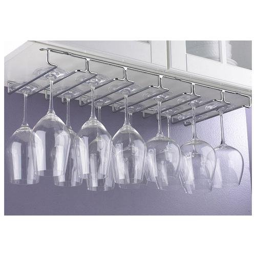 Useful. UH-A103 Under Cabinet Stemware rack hold up to 18 wine glasses