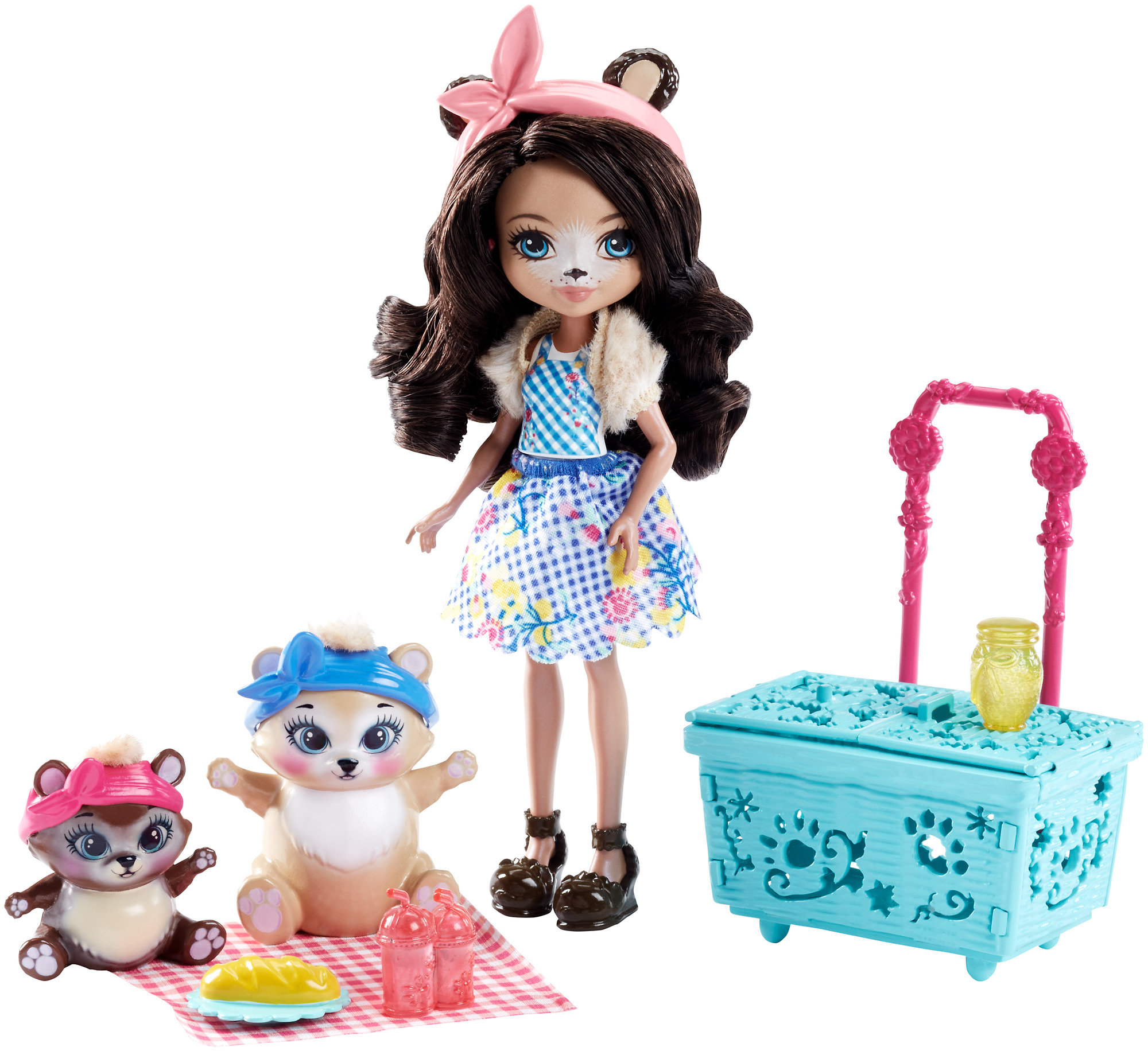Enchantimals Paws for a Picnic Doll Set by Mattel