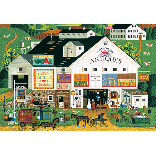 Buffalo Games Large Pieces Peppercricket Farms Jigsaw Puzzle, 1,000 Pieces