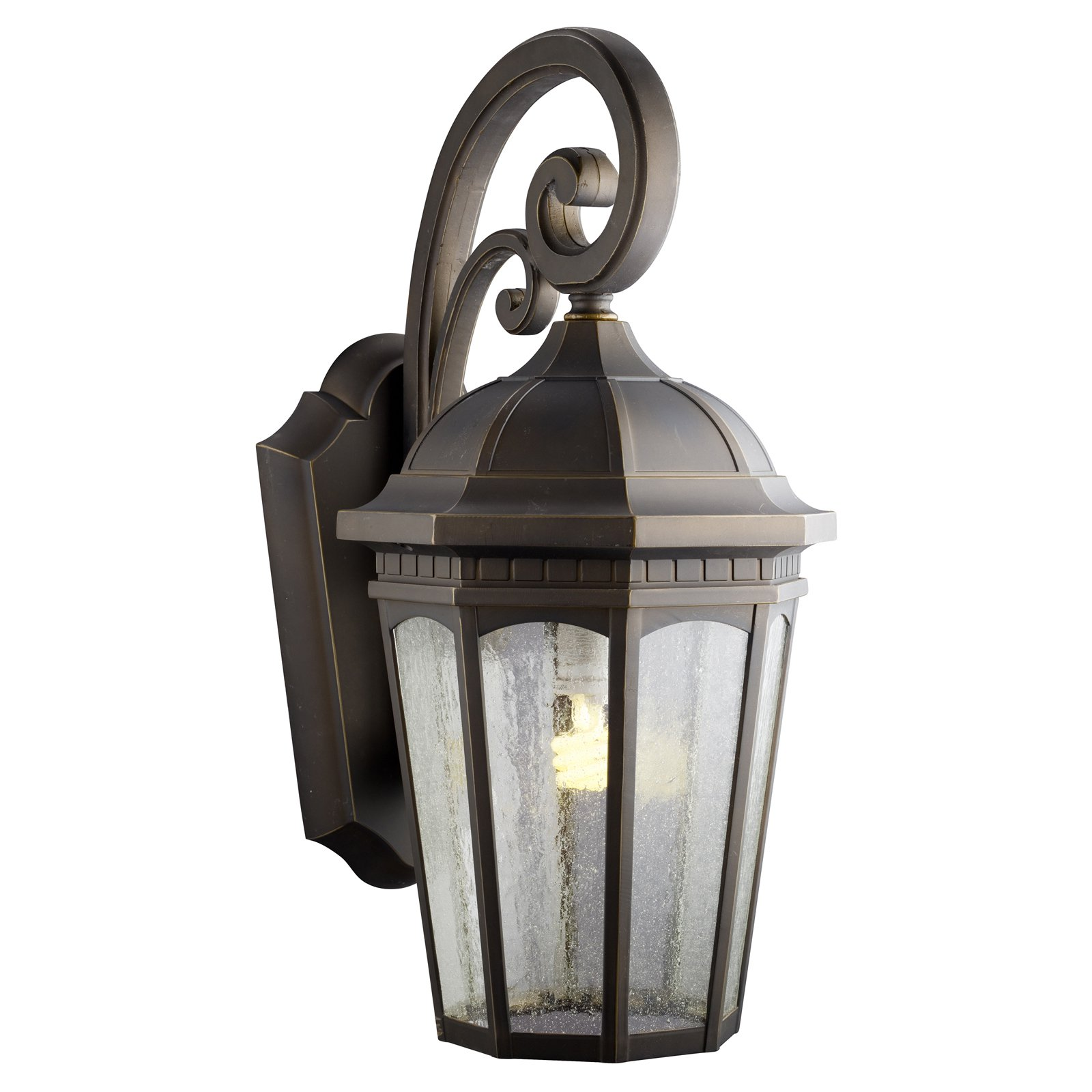 Kichler Courtyard 1101 Outdoor Wall Lantern - Rubbed Bronze