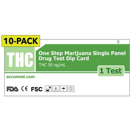 Marijuana Drug Test I Thc Screening  Single Panel  Diy Kit  Instant Results In 5 Minutes  Pack Of 10