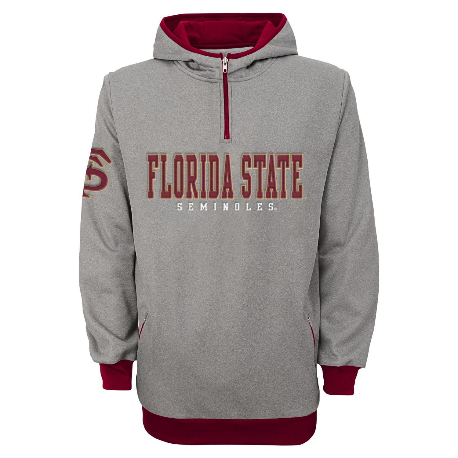 Florida State Seminoles Quarter Zip Hooded Track Jacket M by Gen2