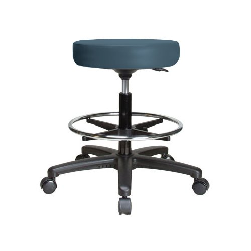 Perch Chairs & Stools Height Adjustable Swivel Stool with Foot Ring by