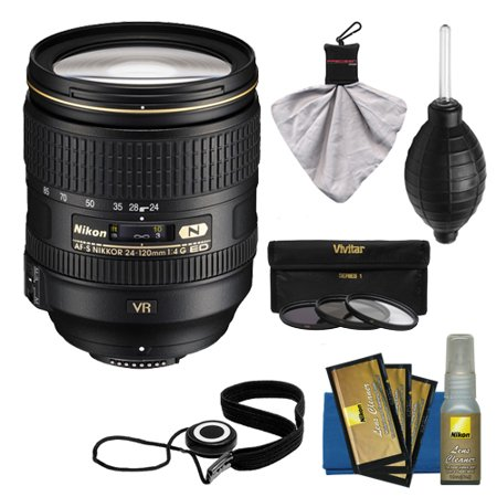 nikon 24 120mm f 4 g vr af s ed zoom nikkor lens with 3 filter kit for d3200 d3300 d5300. Black Bedroom Furniture Sets. Home Design Ideas