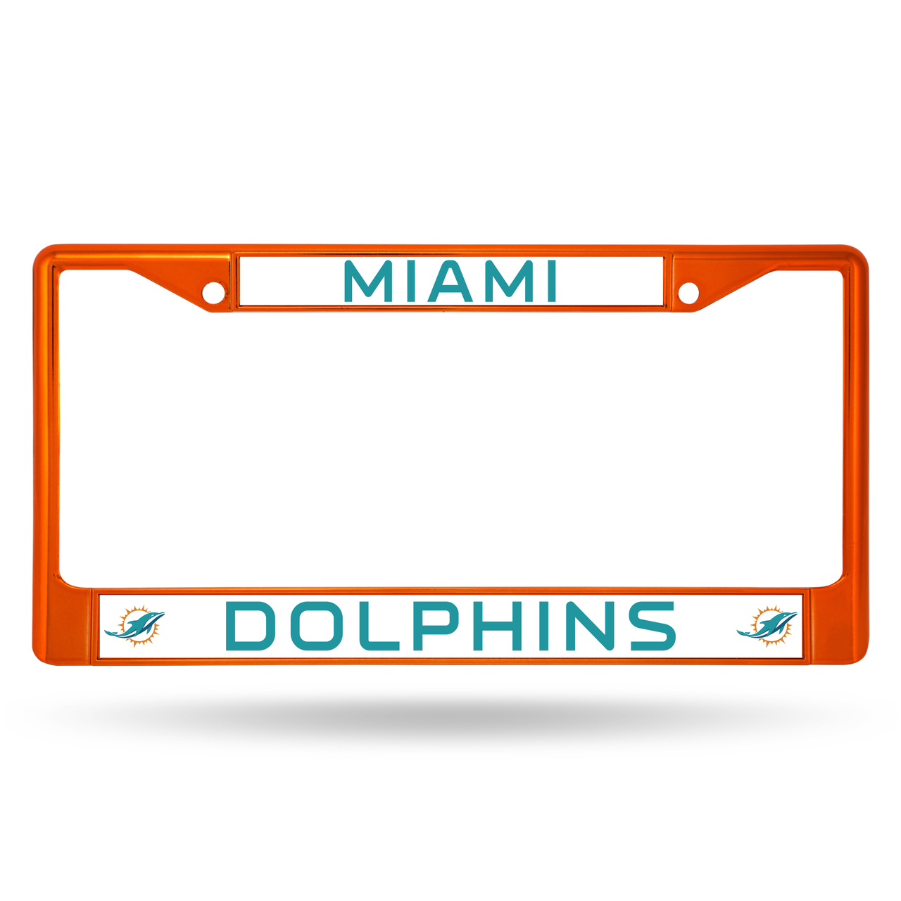 Rico Industries NFL Color License Plate Frame, Miami Dolphins
