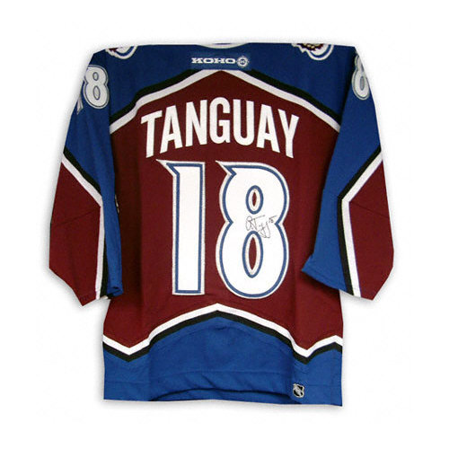 NHL - Alex Tanguay Autographed Jersey | Details: Colorado Avalanche, Burgundy