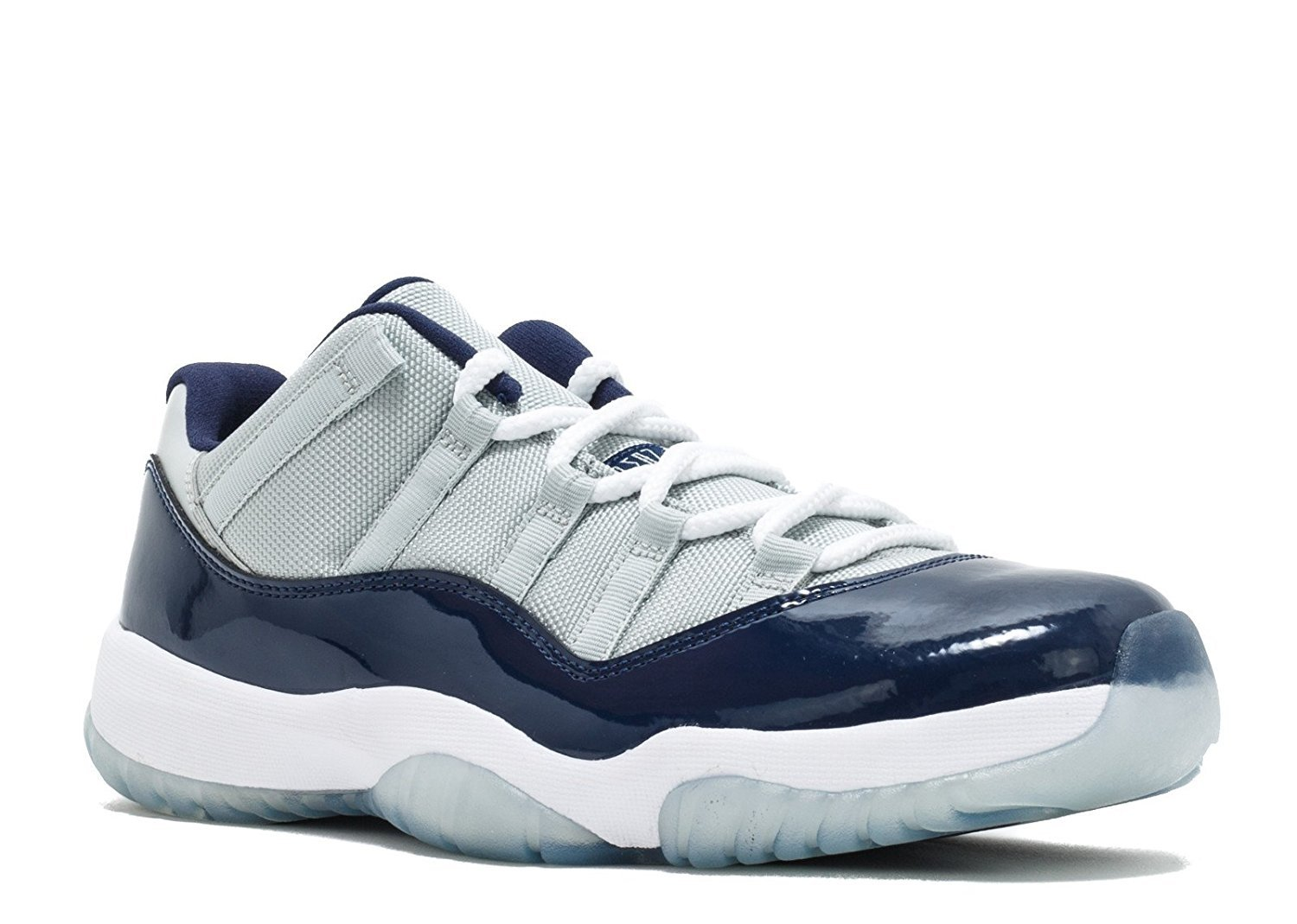 a34ac79c0a08 new style jordan nike mens air jordan 11 retro low georgetown grey mist  white midnight navy
