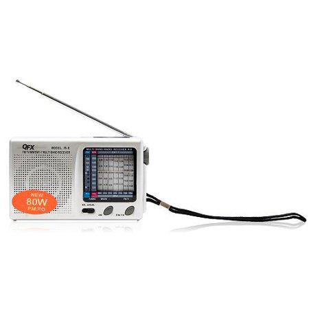 QFX Portable AM/FM Shortwave Radio with Built-in Speaker - Silver (R9)