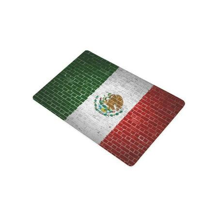 RYLABLUE Creative Mexico Flag Door Mat Home Decor, Brick Wall Indoor Outdoor Entrance Doormat 23.6x15.7 Inches - image 1 of 2