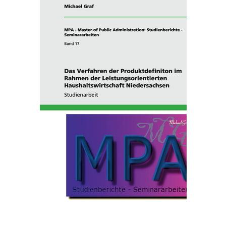 Das Verfahren Der Produktdefiniton Im Rahmen Der Leistungsorientierten Haushaltswirtschaft Niedersachsen (Vintage-optische Rahmen)