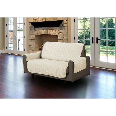 Linen Store Furniture Cover, Pet Protector, Micro Suede [Beige, Loveseat] ()