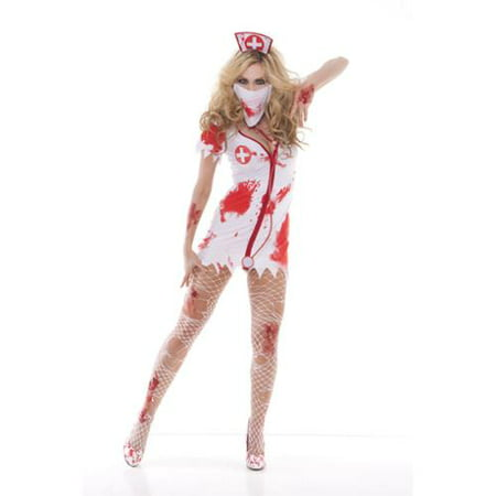 Adult Zombie Bloodbath Betty Nurse Costume Elegant Moments - Betty Rubble Costume