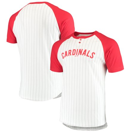 Pinstripe Mlb Jersey - St. Louis Cardinals Majestic Everything in Order Domestic Pinstripe T-Shirt - White