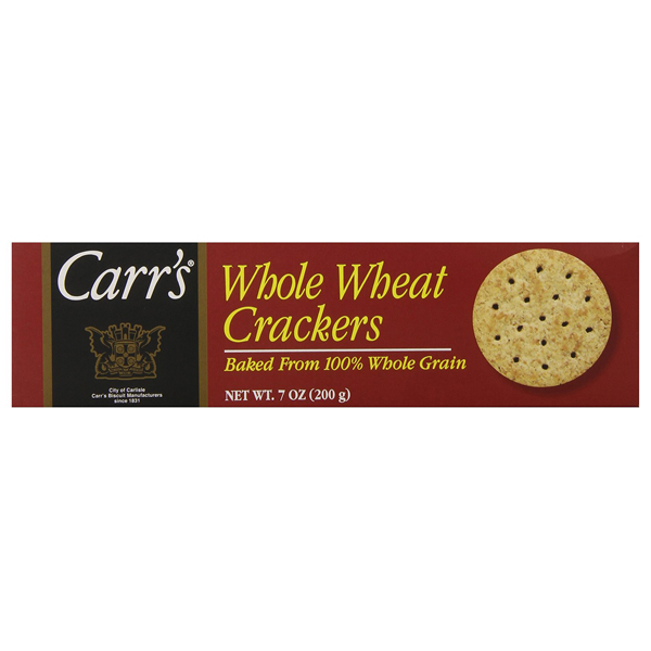 Carr's Whole Wheat Crackers 100% Whole Grain 7 oz Boxes - Pack of 6