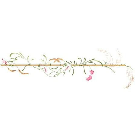 - Wild Flower Wall Stencil Border SKU #3457 by Designer Stencils