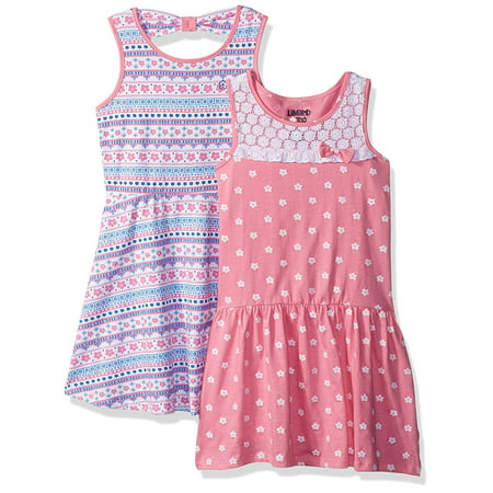 Polka Dot and Mosaic Print Dresses, 2-Pack (Little Girls & Big Girls)](Christmas Dresses For Girls 7 16)